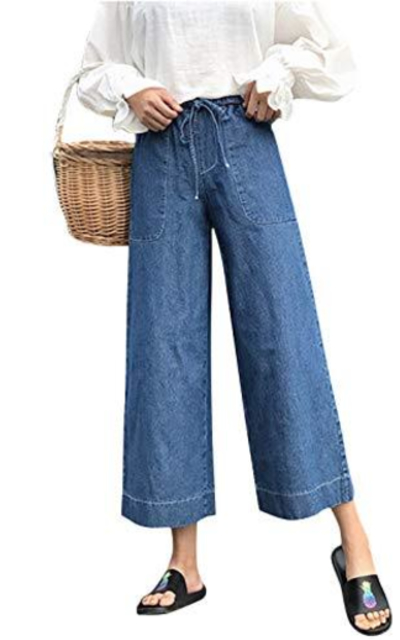 Yeokou High Waist Wide Leg Jeans