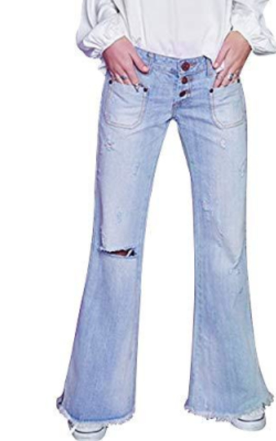 Vintage Wide Leg Flare Jeans
