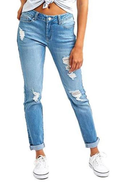 Resfebers Ripped Boyfriend Jeans