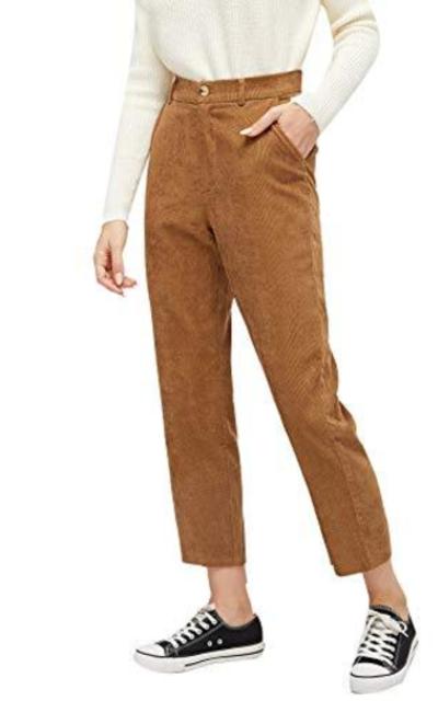 Milumia  Cropped Corduroy Pants