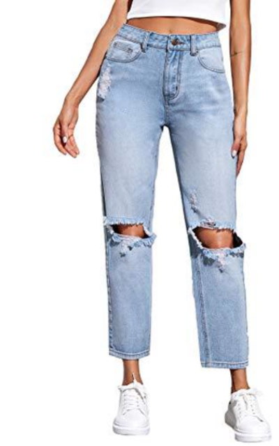 SweatyRocks Distressed Boyfriend Jeans