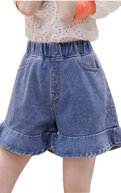 Hixiaohe High Elastic Jean Shorts