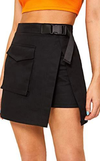 WDIRARA Belted Short Skirt with Pocket