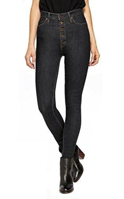 Hybrid & Company Super Stretch 5 Button Hi-Waist Skinny Jeans