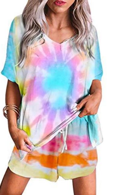 Sidefeel Tie Dye Printed Set