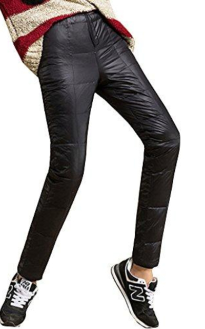 Sobrisah Elastic Waist Packable Puffer Pants