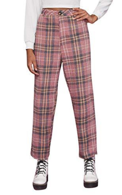 Milumia Plaid High Waisted Pants
