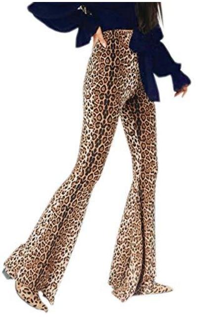 YT Baby Leopard Print High Waist Flare Pant