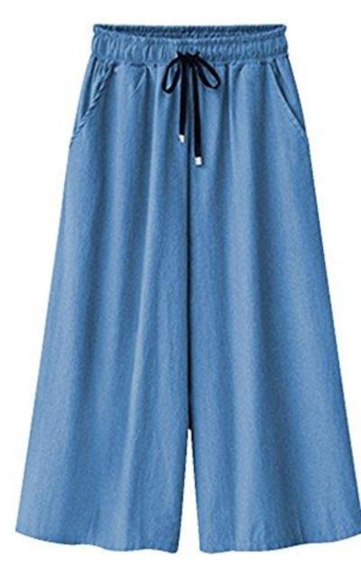Gooket Jean Culottes Pants