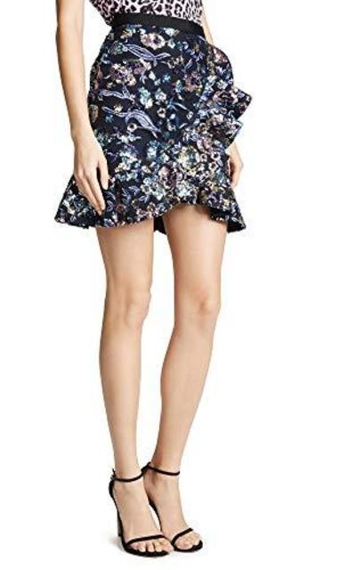 Self Portrait Sequin Embellished Skirt
