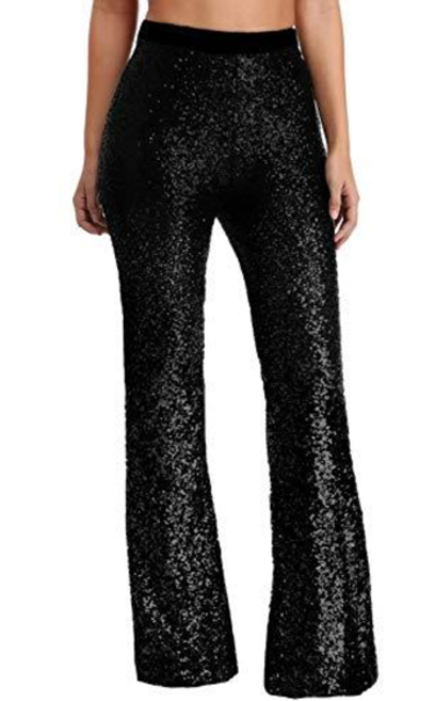 Azokoe Sequin Flared Trousers