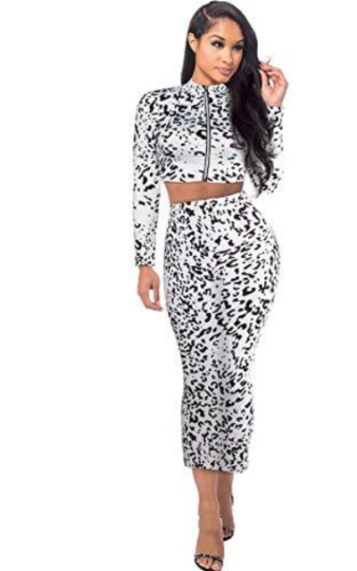 Sedrinuo  2 Piece Leopard Outfit