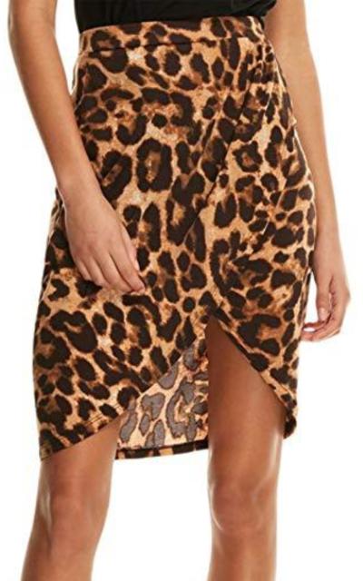 SheIn Asymmetrical Elastic High Waist Mini Skirt