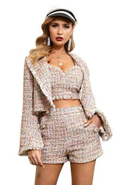 Glamaker Two Piece Tweed Outfit