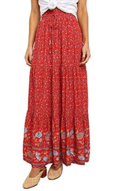 Happy Sailed Bohemian Floral Skirt
