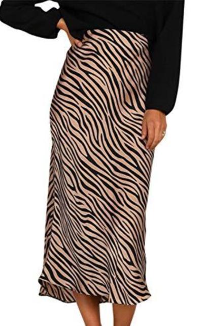 Miessial Tiger Print Skirt