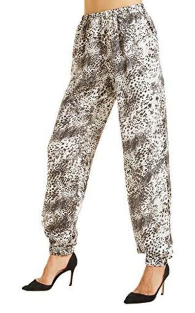 SONJA BETRO Printed Elastic Waist Pants