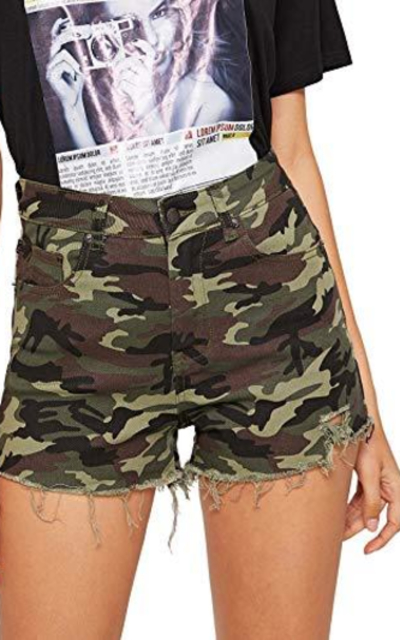 WDIRARA Camo Shorts