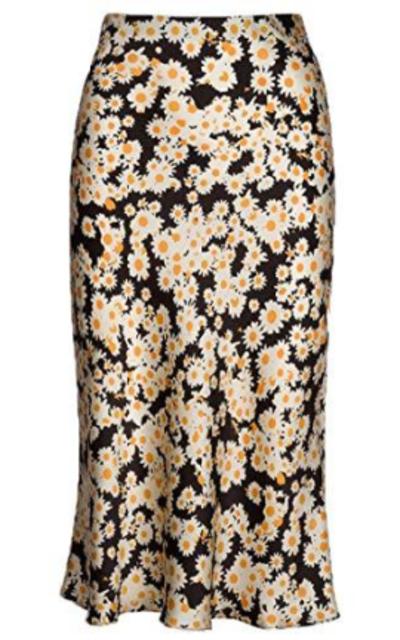 Keasmto Floral High Waist Daisy Skirt