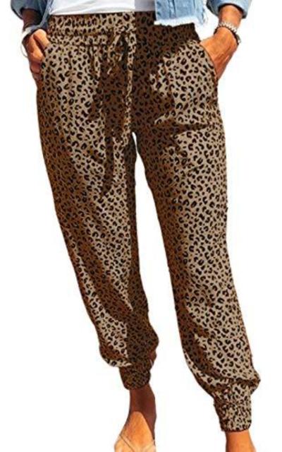 Eytino Leopard Printed Sweatpants