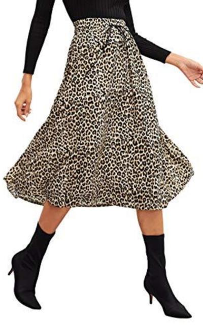 Verdusa Leopard Print Skirt