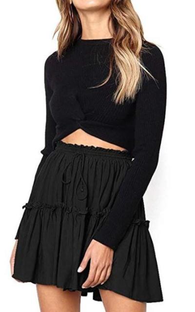 Floral Ruffle Short Skirt