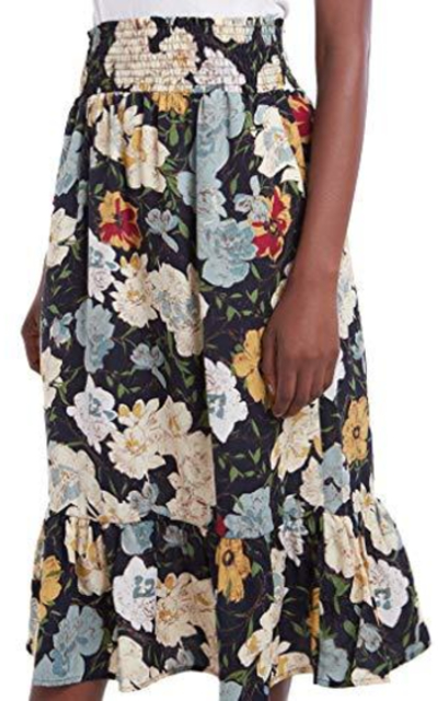 Our Heritage - Midi Skirt with Ruffled Hem