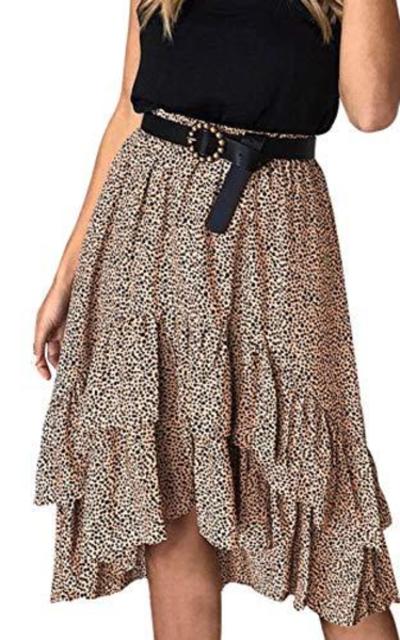 Mumaroho Polka Dot A-line Ruffles Dress