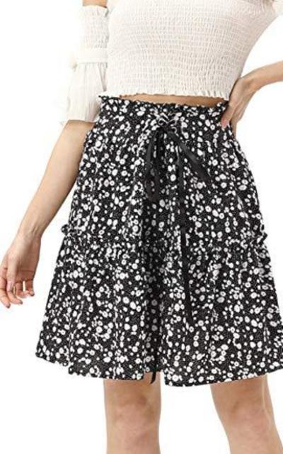 KANCY KOLE Layered Ruffle Skirt