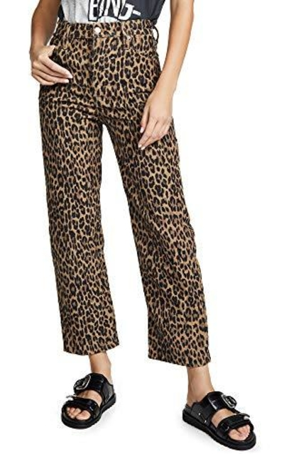 Levi's Ribcage Straight Ankle Jeans, Leopard Corduroy