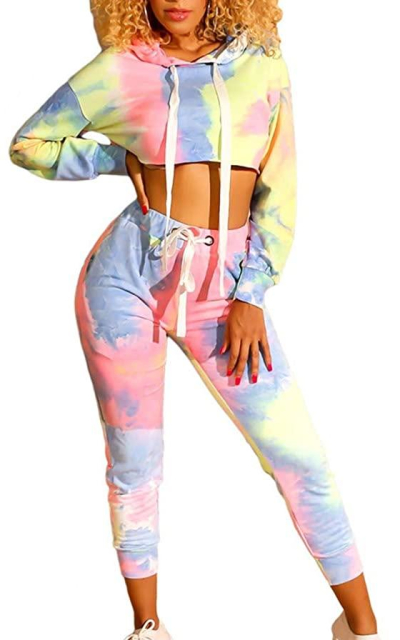 Tie Dye Print 2 Piece Outfit