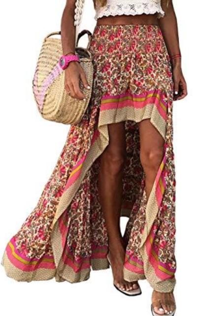BTFBM Boho Floral Skirt