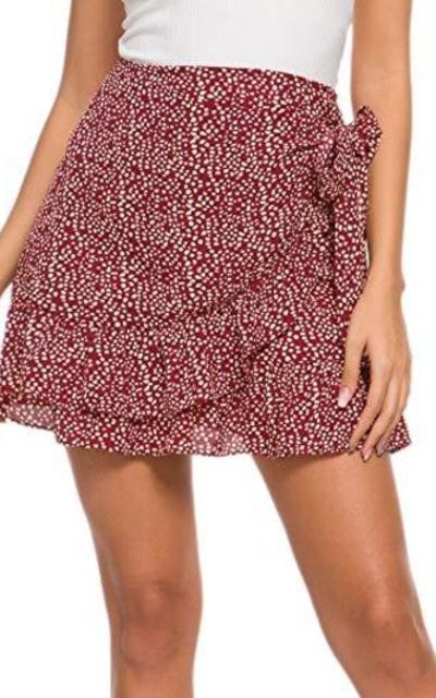 Ruffle Frill Mini Bodycon Skirt