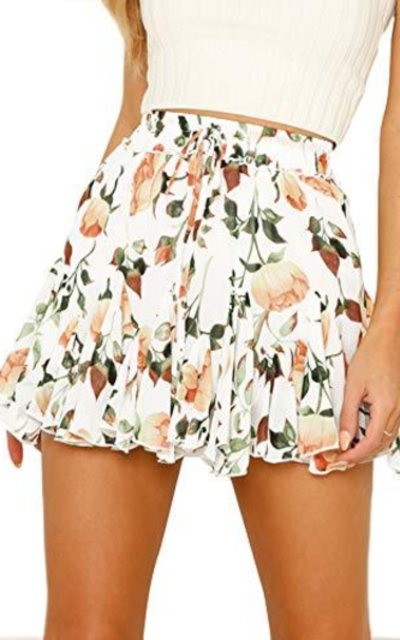 Justalwart Floral Swing Mini Skirt