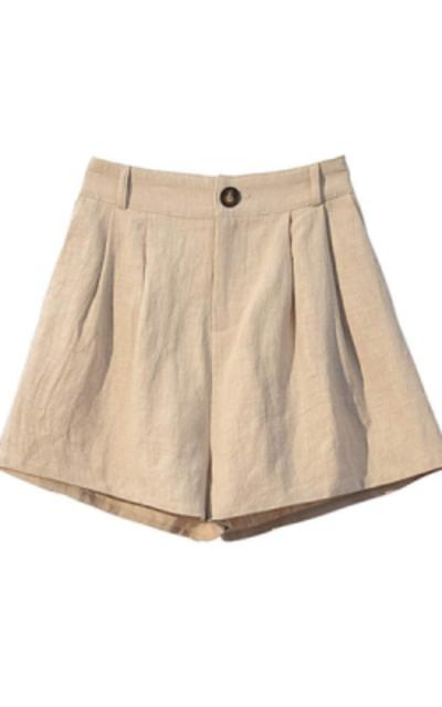 Fuwenni Elastic Waist Shorts