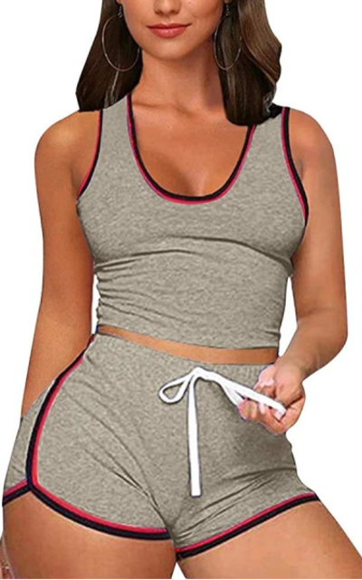 2 Piece Sports Outfit Shorts Set