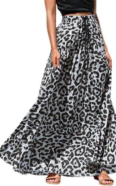 Pengfei Leopard Print Maxi Skirt