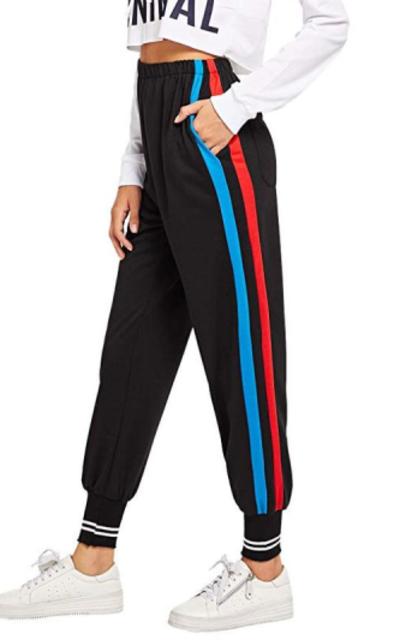 Romwe Stripe Sweatpants