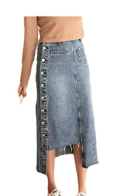Abetteric Denim Midi Skirt