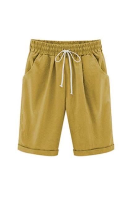 Vcansion Elastic Waist Bermuda Shorts