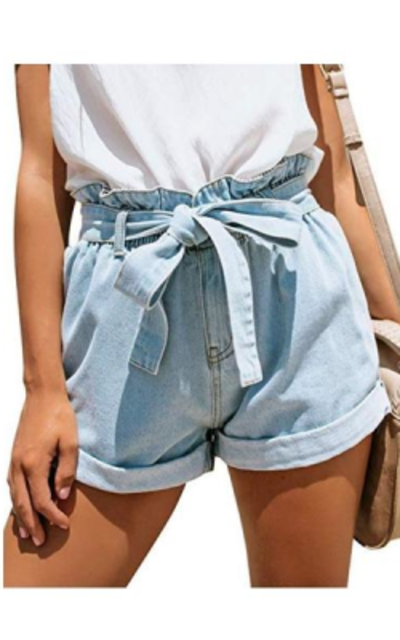 GRAPENT High Waisted Jean Shorts