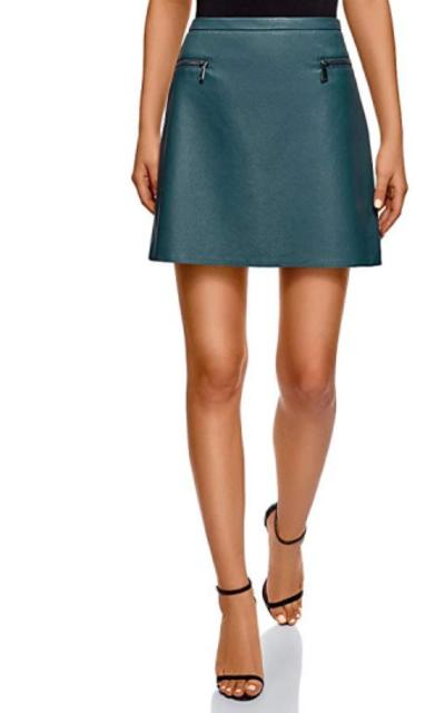 oodji Ultra Faux Leather Skirt