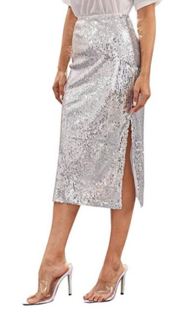 MAKEMECHIC Sequin Skirt