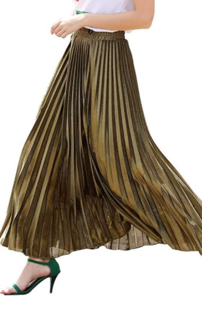 Maxi Elastic Waist Retro Skirt