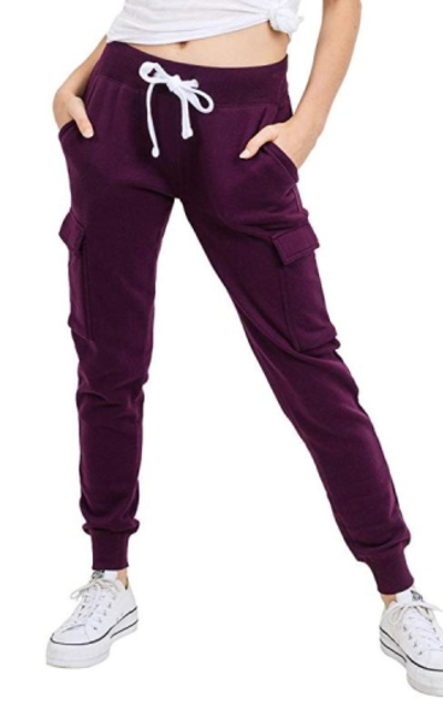 Ultra Soft Fleece Solid Cargo Jogger Pants