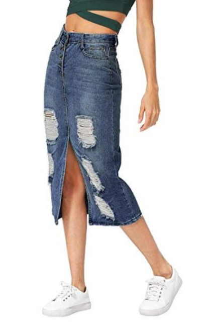 Verdusa Denim Skirt