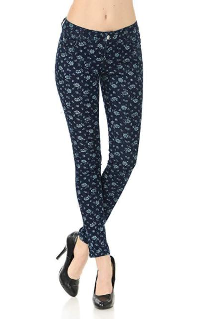 VIRGIN ONLY Printed Skinny Jeans