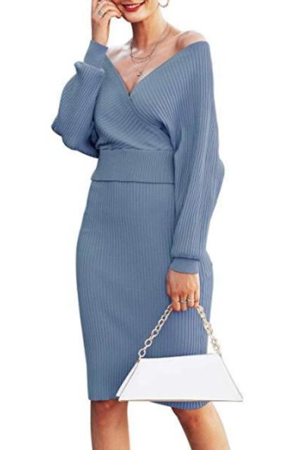 Sollinarry  2 Piece Knit Sweater Dress Set