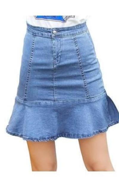 MG & Fashion  Flared Denim Short Skirt