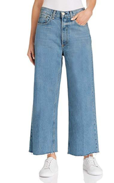 H HIAMIGOS Wide Straight Leg Frayed Hem